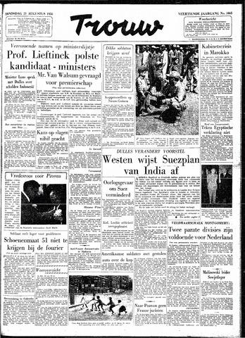 Trouw / De Rotterdammer 1956-08-21