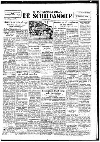 Rotterdamsch Parool / De Schiedammer 1947-08-22