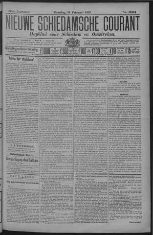 Nieuwe Schiedamsche Courant 1913-02-10