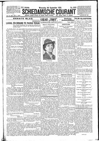 Schiedamsche Courant 1931-09-30