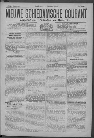 Nieuwe Schiedamsche Courant 1909-01-21