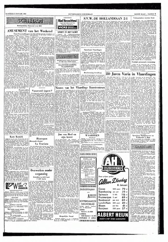 Rotterdamsch Nieuwsblad / Schiedamsche Courant / Rotterdams Dagblad / Waterweg / Algemeen Dagblad 1953-01-05
