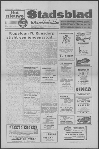 Het Nieuwe Stadsblad 1959-10-14