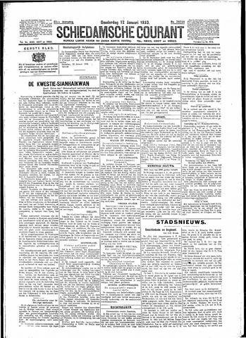 Schiedamsche Courant 1933-01-12