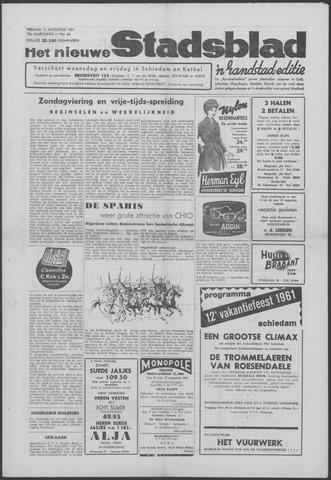 Het Nieuwe Stadsblad 1961-08-11