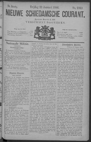 Nieuwe Schiedamsche Courant 1886-01-22
