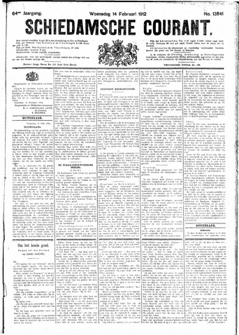 Schiedamsche Courant 1912-02-14
