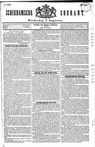 Schiedamsche Courant 1862-08-07