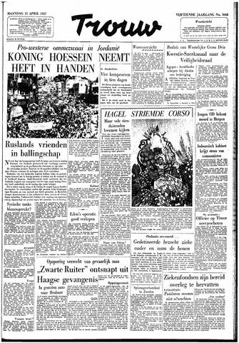 Trouw / De Rotterdammer 1957-04-15
