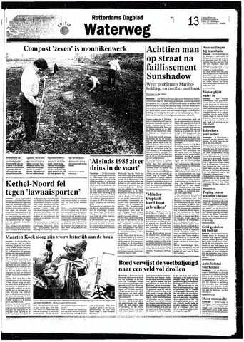 Rotterdamsch Nieuwsblad / Schiedamsche Courant / Rotterdams Dagblad / Waterweg / Algemeen Dagblad 1993-09-10