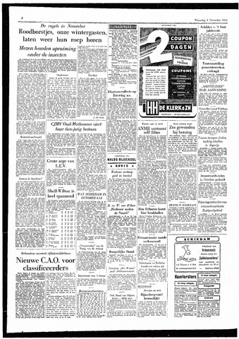 Rotterdamsch Parool / De Schiedammer 1955-11-09