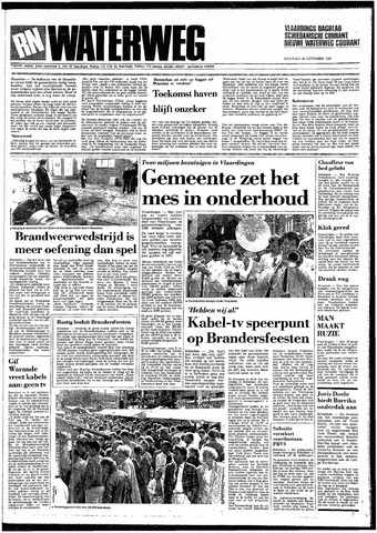 Rotterdamsch Nieuwsblad / Schiedamsche Courant / Rotterdams Dagblad / Waterweg / Algemeen Dagblad 1987-09-28