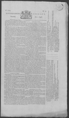 Rotterdamse Courant 1826-04-01