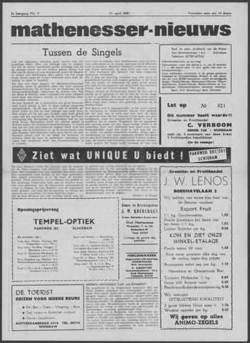 Mathenesser Nieuws 1963-04-25
