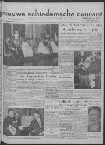 Nieuwe Schiedamsche Courant 1958-04-21