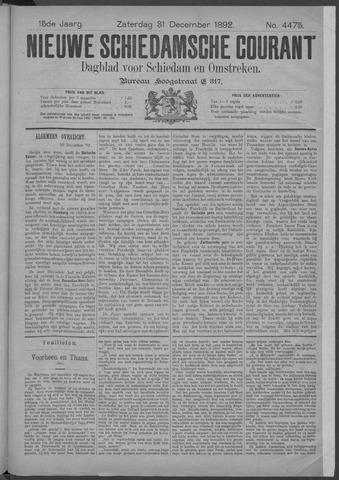 Nieuwe Schiedamsche Courant 1892-12-31