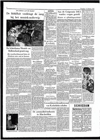 Rotterdamsch Parool / De Schiedammer 1955-02-16