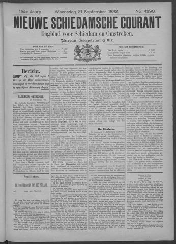 Nieuwe Schiedamsche Courant 1892-09-21