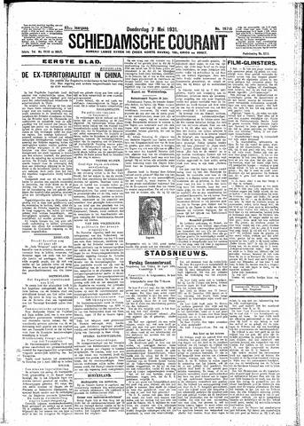 Schiedamsche Courant 1931-05-07