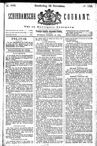 Schiedamsche Courant 1881-11-24