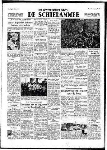 Rotterdamsch Parool / De Schiedammer 1949-03-22