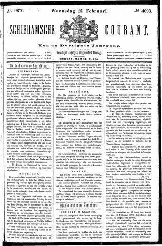 Schiedamsche Courant 1877-02-14