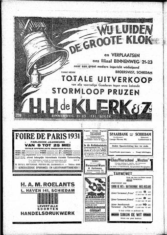 Schiedamsche Courant 1931-05-01