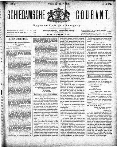 Schiedamsche Courant 1885-04-17