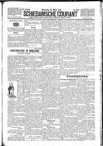 Schiedamsche Courant 1931-03-25