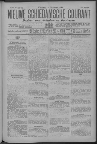 Nieuwe Schiedamsche Courant 1918-11-27