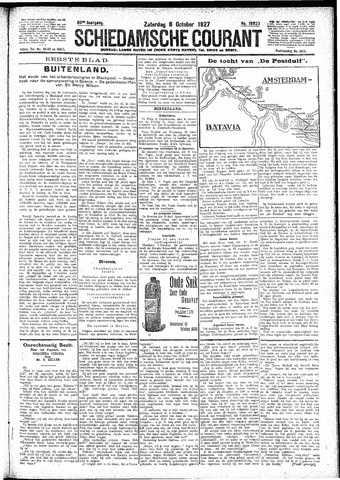 Schiedamsche Courant 1927-10-08