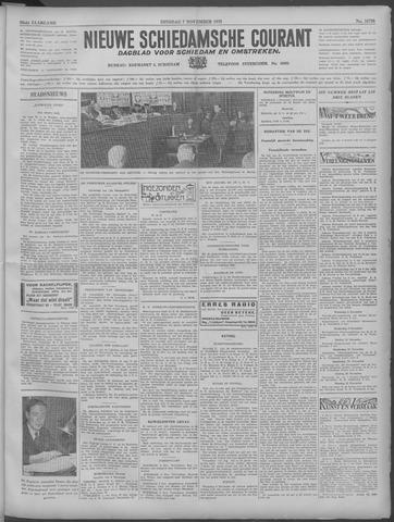 Nieuwe Schiedamsche Courant 1933-11-07