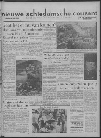 Nieuwe Schiedamsche Courant 1958-07-30