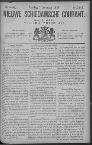 Nieuwe Schiedamsche Courant 1886-12-03