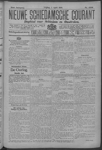Nieuwe Schiedamsche Courant 1918-04-05