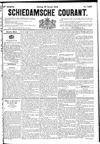 Schiedamsche Courant 1908-01-26
