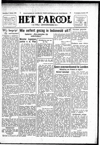 Rotterdamsch Parool / De Schiedammer 1945-10-03