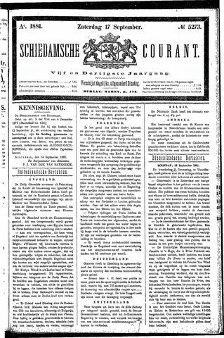 Schiedamsche Courant 1881-09-17