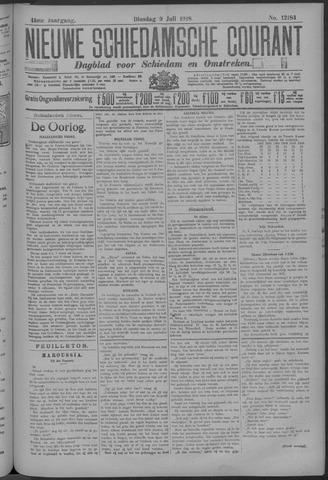Nieuwe Schiedamsche Courant 1918-07-09