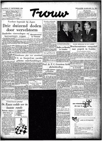 Trouw / De Rotterdammer 1954-09-27