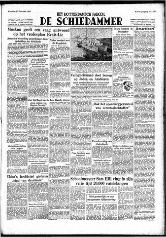 Rotterdamsch Parool / De Schiedammer 1948-11-17