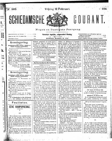Schiedamsche Courant 1885-02-13