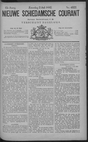 Nieuwe Schiedamsche Courant 1892-07-02