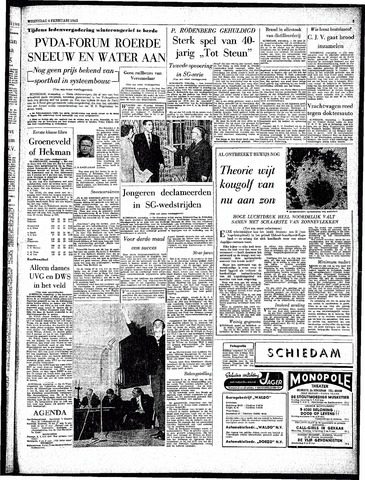 Rotterdamsch Parool / De Schiedammer 1963-02-06