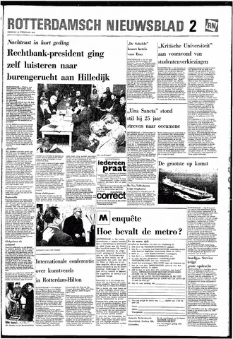 Rotterdamsch Nieuwsblad / Schiedamsche Courant / Rotterdams Dagblad / Waterweg / Algemeen Dagblad 1968-02-20