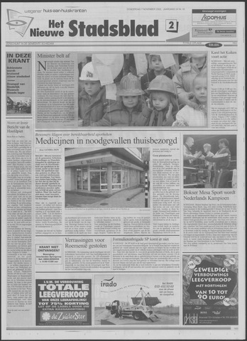 Het Nieuwe Stadsblad 2002-11-07