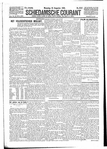 Schiedamsche Courant 1931-08-10