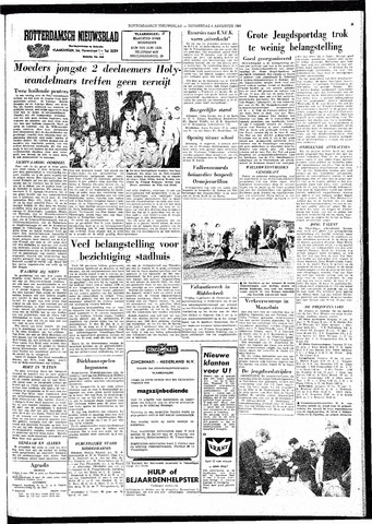 Rotterdamsch Nieuwsblad / Schiedamsche Courant / Rotterdams Dagblad / Waterweg / Algemeen Dagblad 1964-08-06
