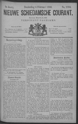 Nieuwe Schiedamsche Courant 1886-02-04