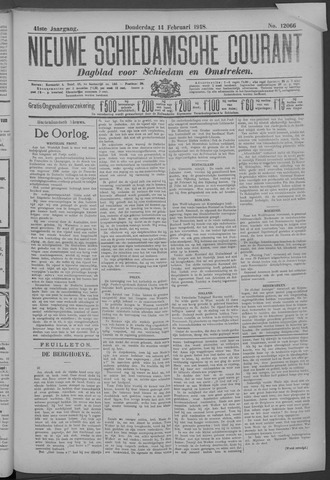 Nieuwe Schiedamsche Courant 1918-02-14